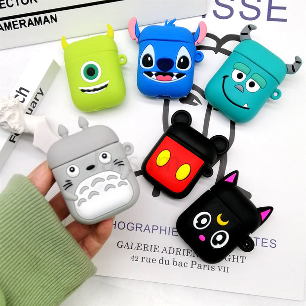 Nice Soft Wireless Earphone Case For Apple AirPods 2 Silicone Earphone Charging Case For Airpods Protective Cover Accessories😍😍