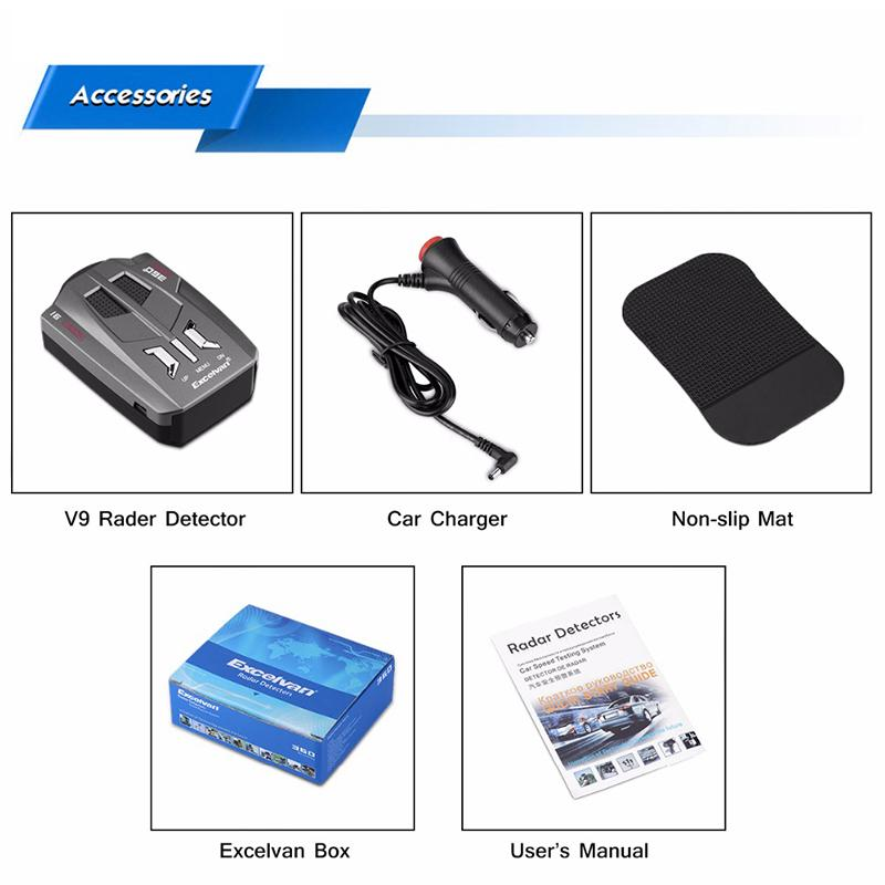 New LED Radar Detector - Car Speed Testing System