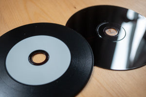 Vinyl CD-R and Black Sleeves 50pcs