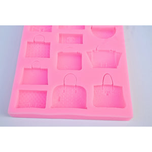 double gg lv designer logo silicone fondant mold for cake decoration