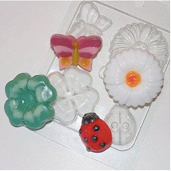 SPRING MOLD - FLOWERS, LADYBUG AND BUTTERFLY MOLD