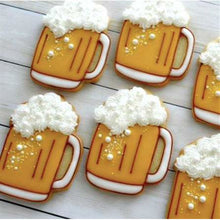 Load image into Gallery viewer, LARGE TIE, MUSTACHE & BEER MUG COOKIE CUTTER SET