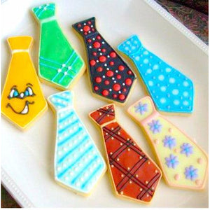 LARGE TIE, MUSTACHE & BEER MUG COOKIE CUTTER SET