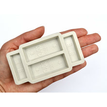 Load image into Gallery viewer, GOLD BAR SILICONE MOLD (4 Cavity)