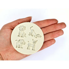 Load image into Gallery viewer, PET VARIETY MOLD - 4 CAVITY DOGS & CAT SILICONE MOLD