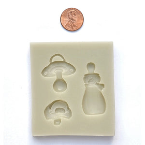 BABY SHOWER MOLD - BABY BOTTLE, PACIFIER & BIB SILICONE MOLD