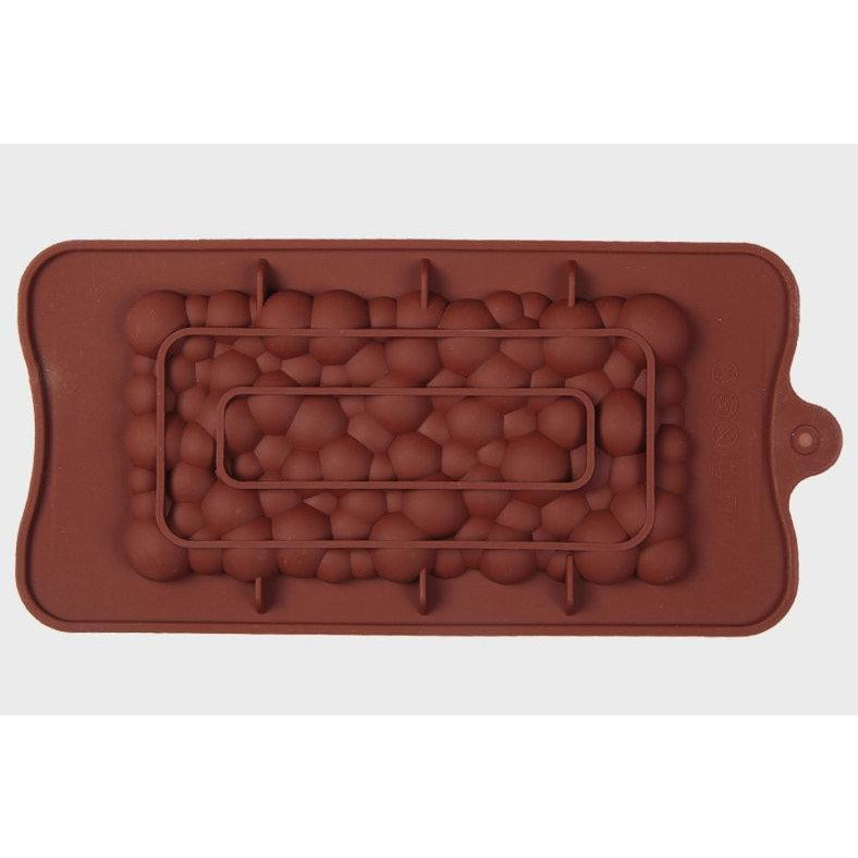 CHOCOLATE BAR BUBBLES PATTERN MOLD