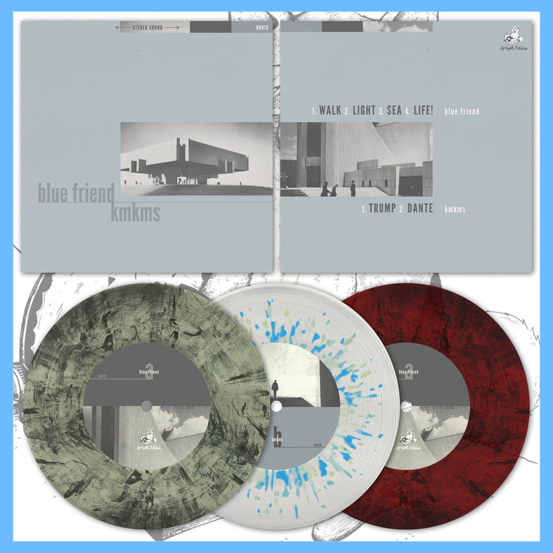 "*USA/CAN ONLY* DK079: Blue Friend / KMKMS - Split 7"" EP"
