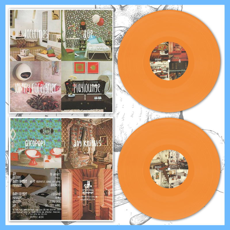 "*US ONLY* DK082: Playlounge / Doe / Johnny Foreigner / Doctrines - 4-Way Split 12"" EP"