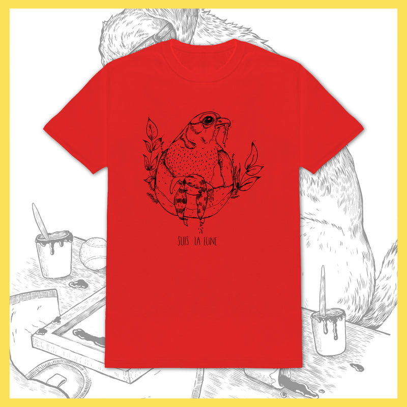 Suis La Lune - Bird (Red) - T-Shirt