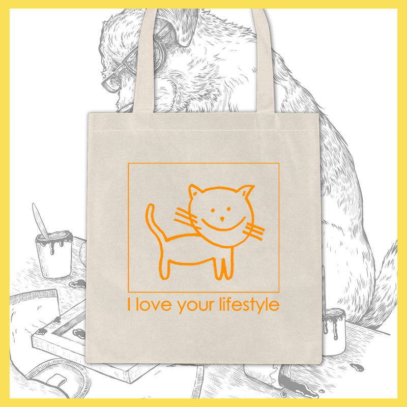 I Love Your Lifestyle - Cat - Tote Bag