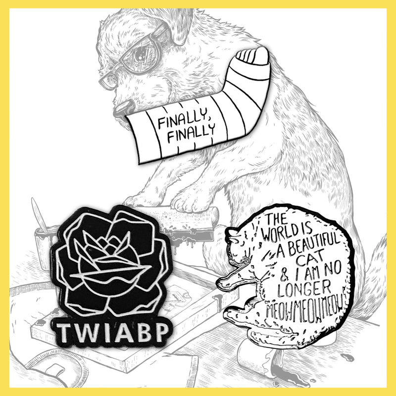 TWIABP&IANLATD - The World Is A Beautiful (Inverted) Cat... - Soft Enamel Pin Badge
