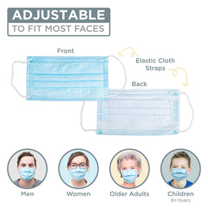 3-Ply FDA Disposable Mask (50 Pack) Ships from USA
