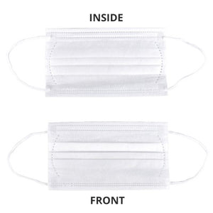 FDA approved 3-Ply Disposable Mask front and back