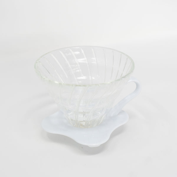 HARIO V60-02 Glass White Dripper