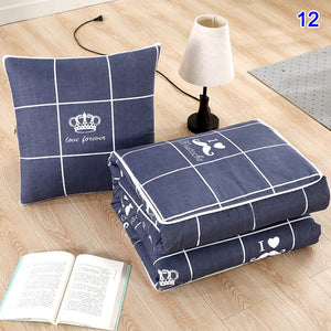 2 in 1 spandex Cushion Blanket car sofa lumbar throw pillow air conditioning blanket foldable patchwork quilt blanket Bedding HT - Best LuxorShop