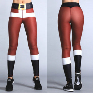 Christmas Printing Women Fitness Legging Bodybuilding  Leggings Push Up Hips High Waist Sexy Pants - Best LuxorShop