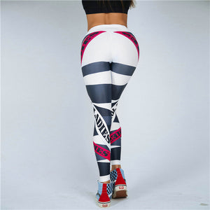 Letter Print Leggings Women Fitness High Waist Push Up Trousers Breathable - Best LuxorShop