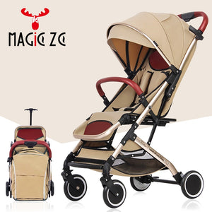 Magic ZC Baby Stroller foldable baby buggy car Travelling Pram can sit can lie Children Pushchair on the airplane, Europe no tax - Best LuxorShop