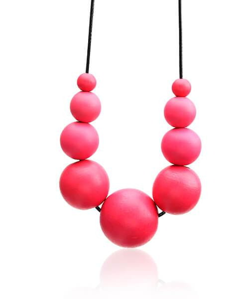 Collier en bois <br> Bella rose
