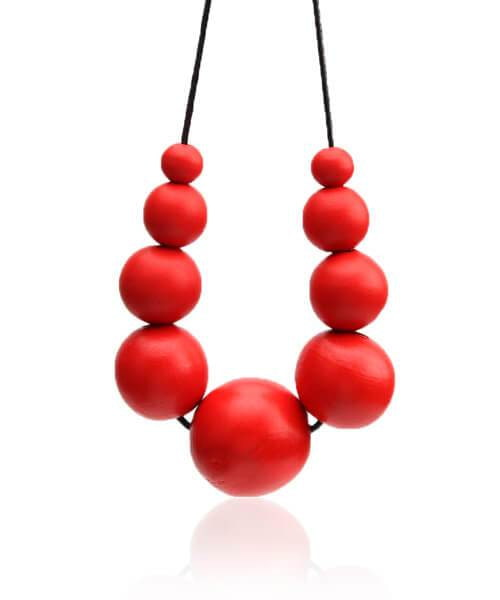 Collier en bois <br> Bella rouge