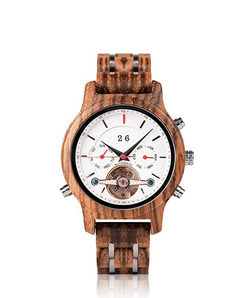 MONTRE EN BOIS AUTOMATIQUE <br> BE Aventure
