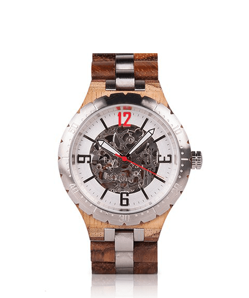 MONTRE EN BOIS AUTOMATIQUE <BR> BE Silver