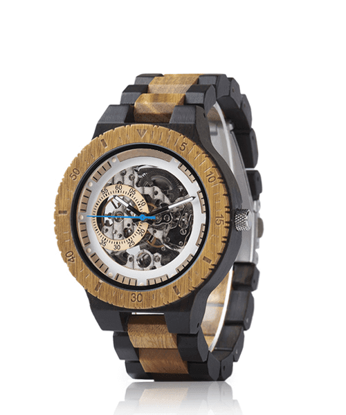 MONTRE EN BOIS AUTOMATIQUE <br> BE Steampunk