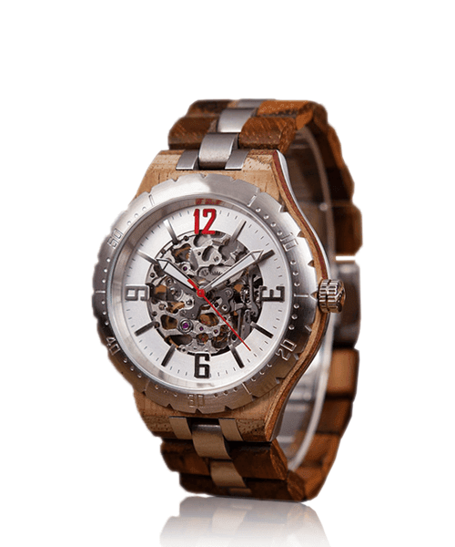 MONTRE EN BOIS AUTOMATIQUE <BR> Grand Duc
