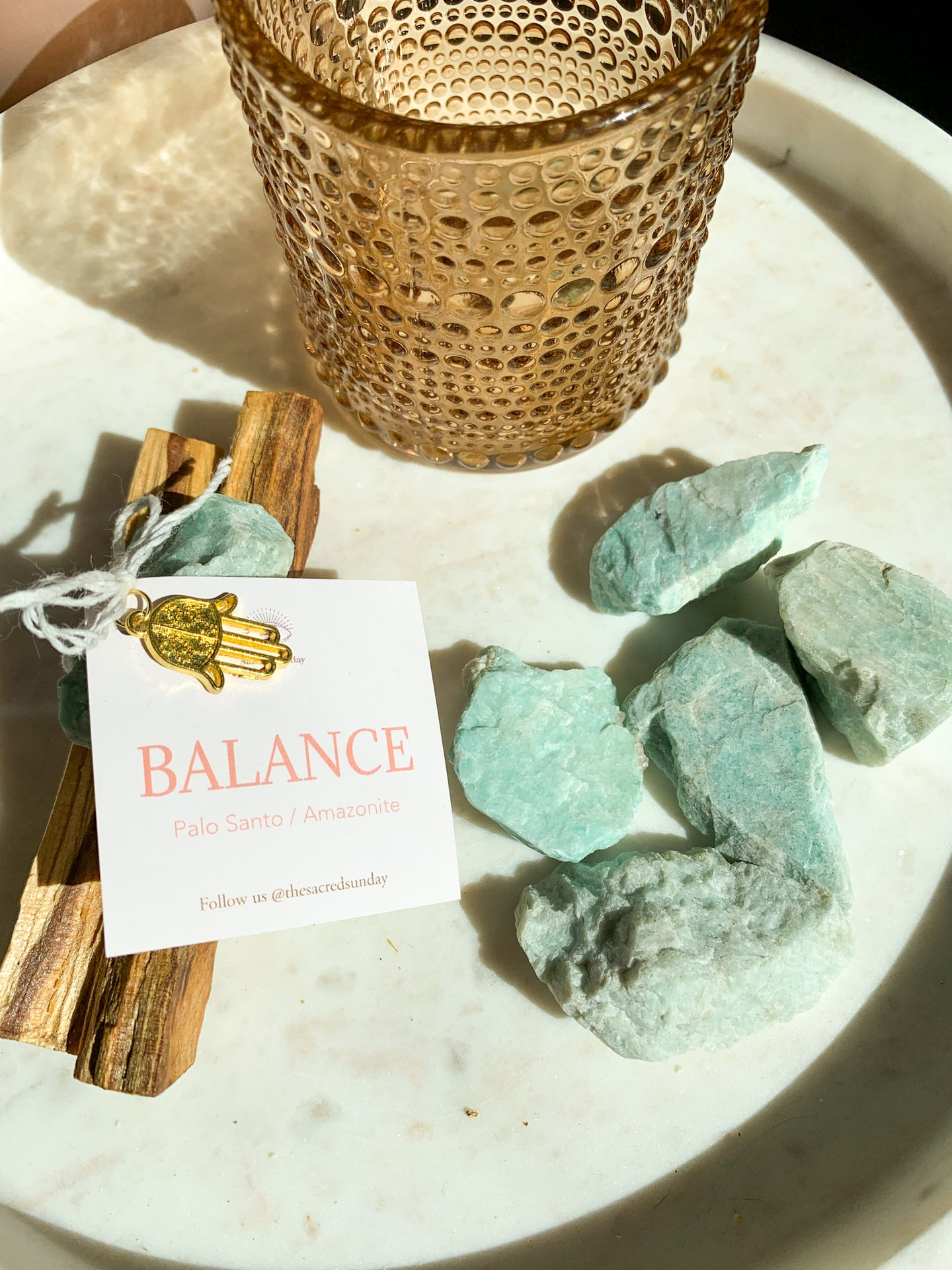 'BALANCE' Cleansing Bundle - Palo Santo + Amazonite