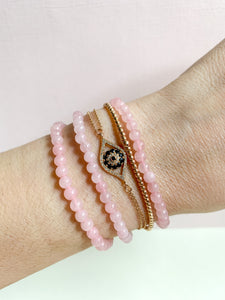 Rose Quartz Crystal Energy Bracelet
