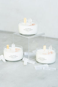 Crystal Infused Candle - Aire Boheme