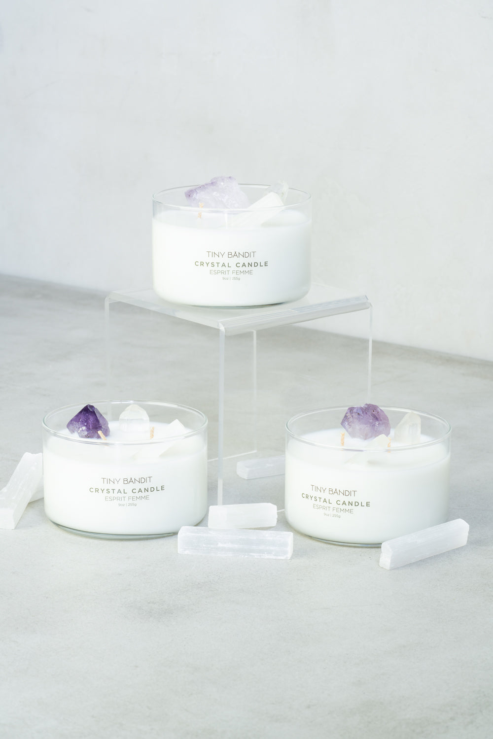 Crystal Infused Candle - Femme Esprit
