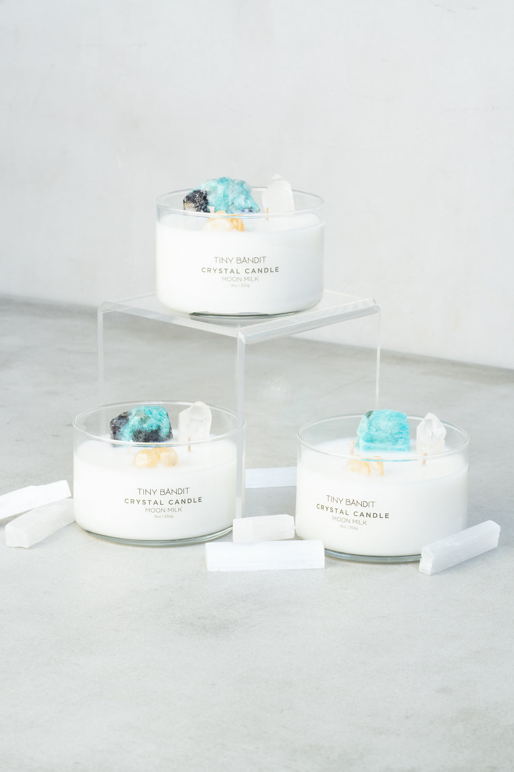 Crystal Infused Candle - Moon Milk