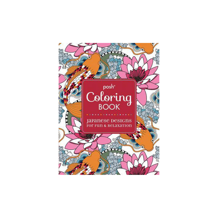 Posh Adult Coloring Bk : Japanese