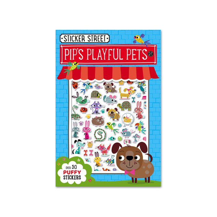 D-Sticker Street Pips Playful Pets
