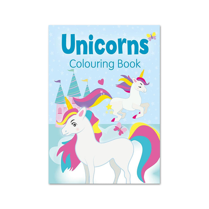 Unicorns Colouring Bk (Blue)