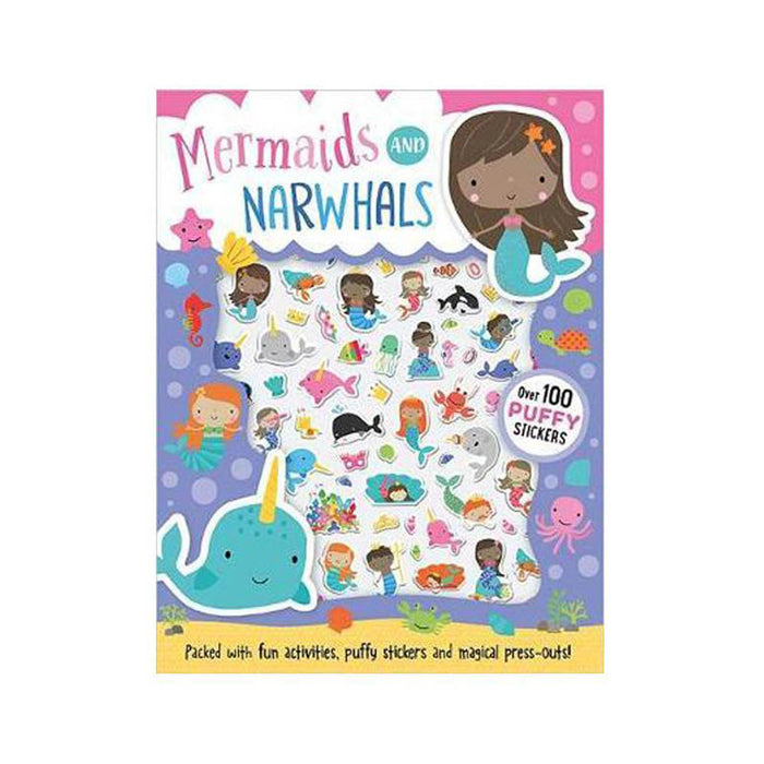 Mermaids And Narwhals Puffy Sticker Act Book