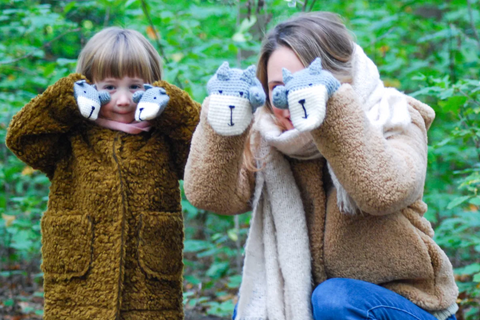 mummy and me animal mittens