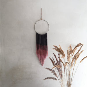 Metal Dream Catcher With Fine Ombre Threads