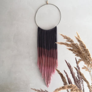 Metal Dream Catcher With Fine Ombre Threads-EKA