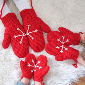 Snowflake Mittens - Adult, Child and Baby.-Mittens-EKA