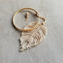 Load image into Gallery viewer, Macrame Feather Dreamcatcher-Wall Hangings-EKA