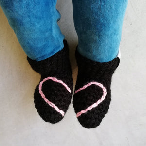 Heart Booties - baby and child