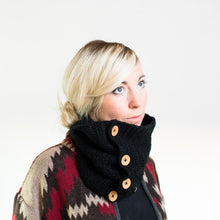 Load image into Gallery viewer, Acrylic Cowl Scarf With Buttons-Scarves-EKA
