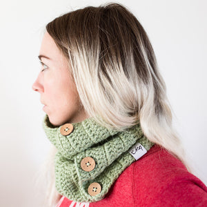 Acrylic Cowl Scarf With Buttons-Scarves-EKA