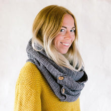 Load image into Gallery viewer, Organic Cotton Infinity Scarf