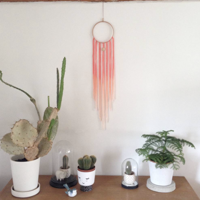 Dreamcatcher Talisman - Salmon Ombre-Wall Hangings-EKA