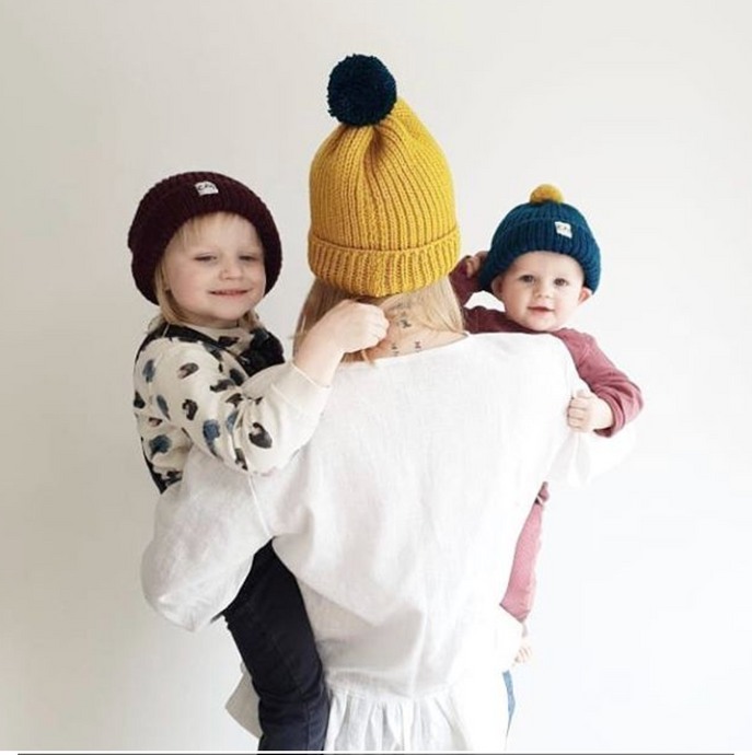 Mummy And Me Bobble Hat Set-Hats-EKA