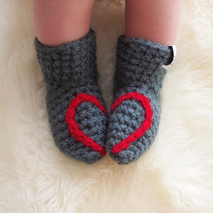 Heart Booties - baby and child-Baby Booties-EKA